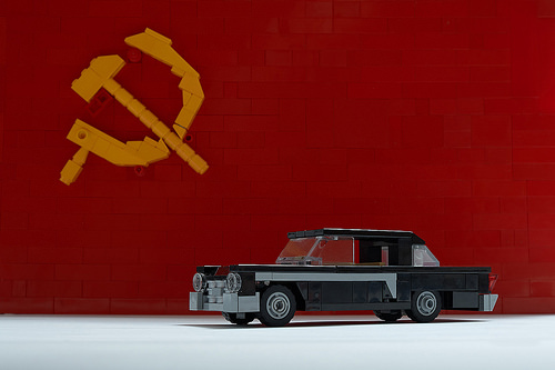 Lego GAZ 13 Chaika with the USSR flag