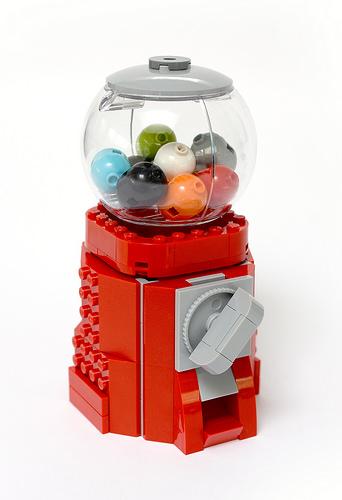Lego Bubble Gum Dispenser - atana studio