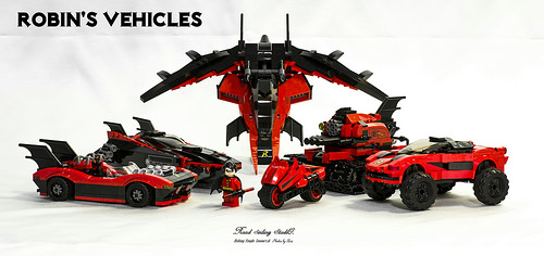 Lego Batman Batmobile Robin Vehicle MOC MOD