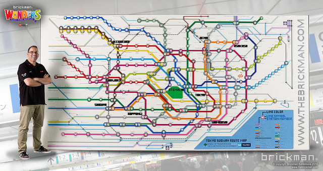 LEGO Brick Toyko Subway map