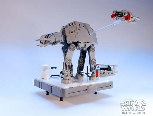 Nanofigure-scaled AT-AT LEGO MOC v3.0