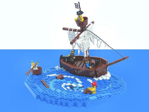 LEGO Pirates diorama