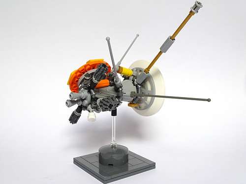Cassini Huygens Spacecraft LEGO Model