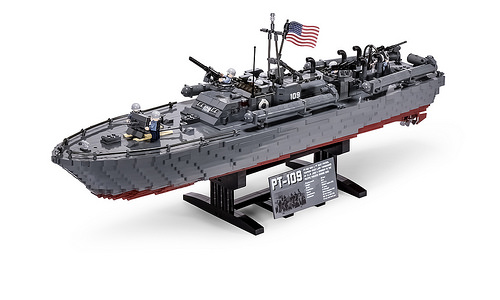 John F Kennedys Pt 109 Ww2 Torpedo Boat Recreated In Lego The