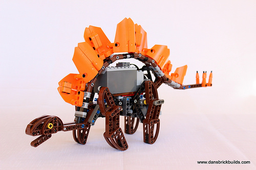 Walking Lego stegosaurus