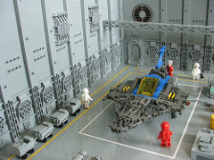 LEGO space hangar bay