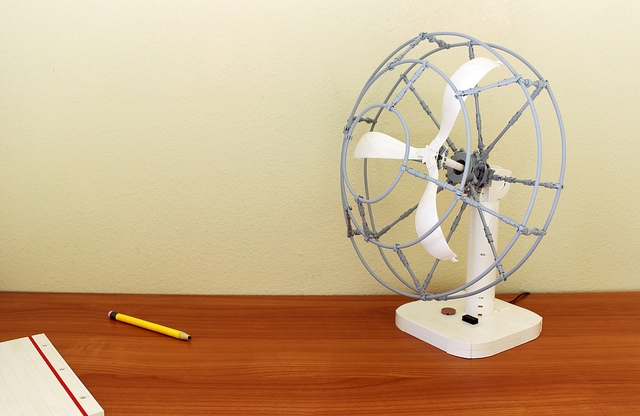 Caged Desk Fan
