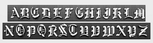 Lego Gothic font