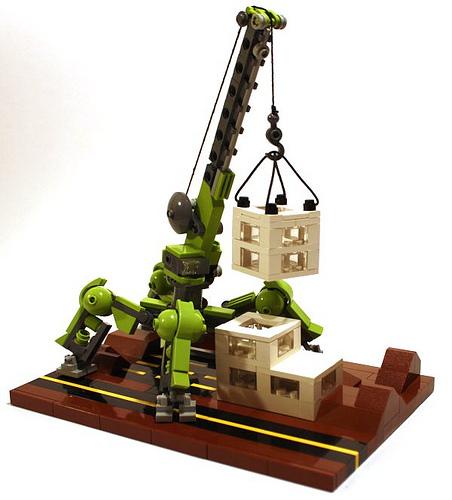 LEGO mecha crane