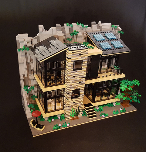 Green Rock House MOC exterior V