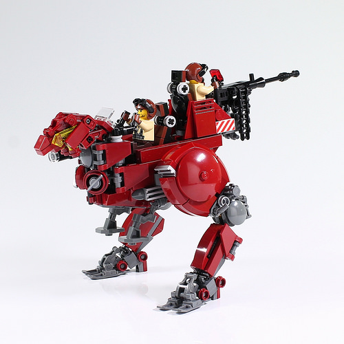 Ravage your rivals in this red robotic raptor