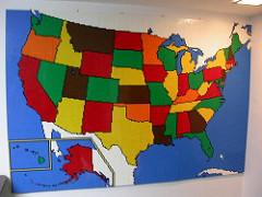 LEGO USA map mosaic
