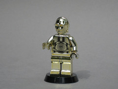 LEGO Star Wars chrome-gold C-3PO minifig