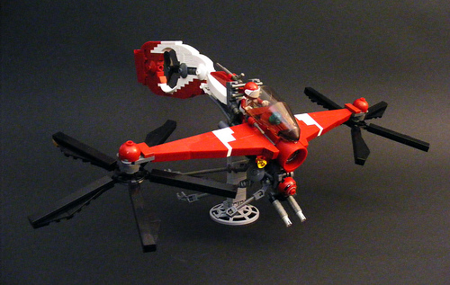 LEGO VTOL helicopter inspired by Leading Light