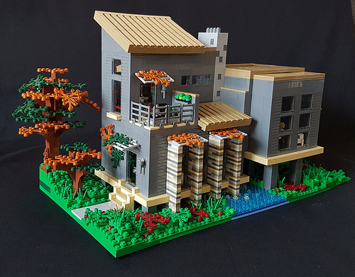 Autumn Stream House MOC front II