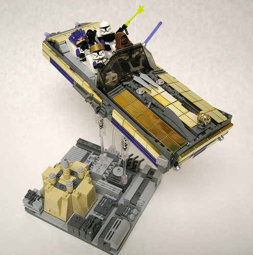 LEGO Star Wars Mace Windu speeder