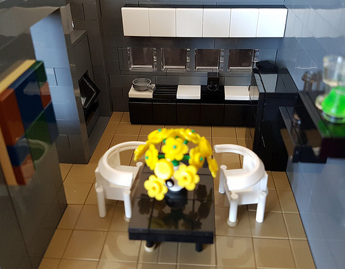Autumn Stream House MOC kitchen overview