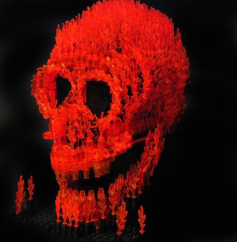 LEGO Fire Skull