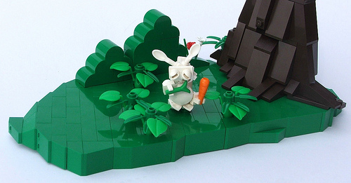 LEGO forest bunny