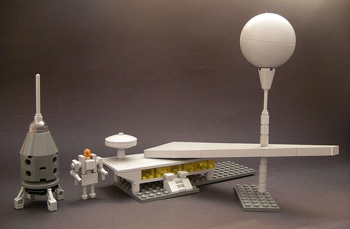 LEGO lunar base micro-scale