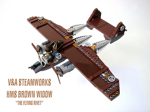 LEGO steampunk airplane