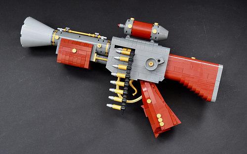 Belt Fed Machine Pistol for a Golden Age.