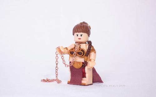 LEGO Star Wars Custom Slave Leia minifig
