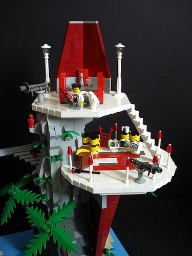 LEGO supervillain fortress