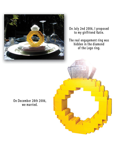 LEGO Wedding Engagement Ring