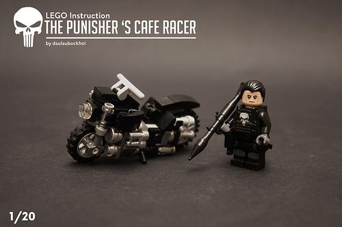 Lego The Punisher's Cafe Racer instruction.