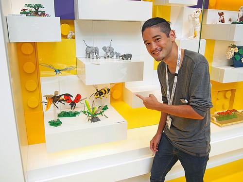 LEGO House Yellow Zone Display