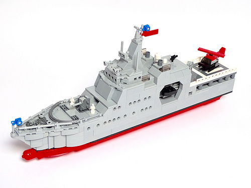 "Offshore Patrol Vessel ""Piloto Pardo"" 1:200 scale LEGO model Patrullero de Zona Marítima ""Piloto Pardo"" Modelo LEGO escala 1:200"