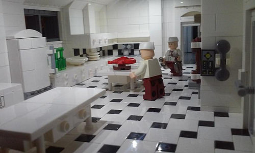 Wayne Manor - Basement - Kitchen