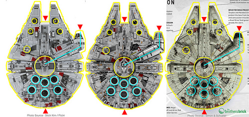 LEGO Millennium Falcons (10179 & 75192) vs. movie version
