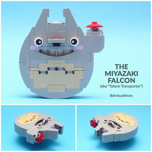 Artisan Bricks by Jeffrey Kong - LEGO Miyazaki Falcon aka Totoro Transporter - for Brothers Brick Millennium Falcon Contest