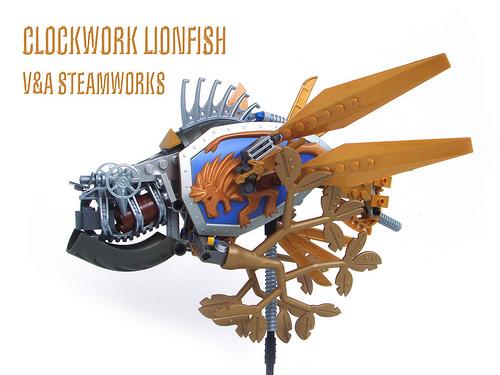 LEGO steampunk lionfish
