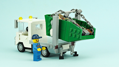Waste container transporter