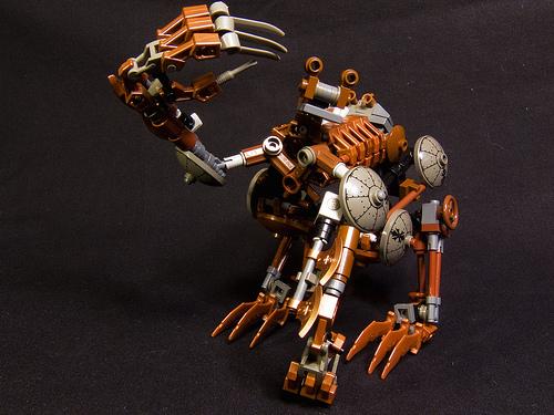 LEGO steampunk iron golem