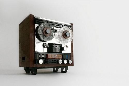LEGO MOC Reel to Reel Tape Recorder