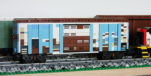 Peter Normans Weathered LEGO Boxcar