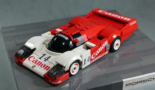 Porsche 956 Lego front-lateral