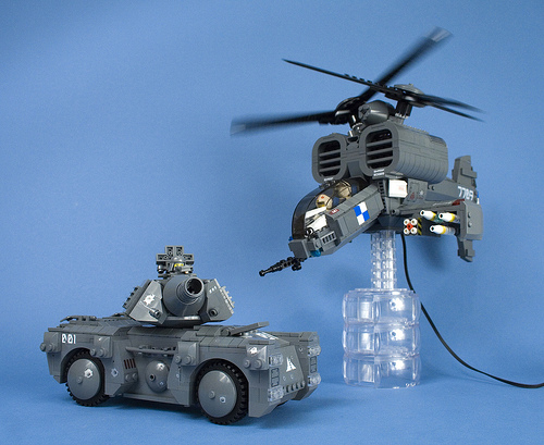 Iron Mountain Legion Tank and Helicopter