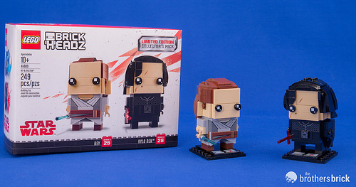 LEGO STAR WARS BRICKHEADZ Kylo Ren Rey Limited Edition Collectors Pack Disney