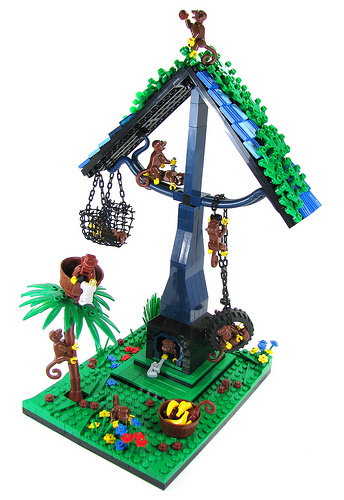 LEGO monkey house