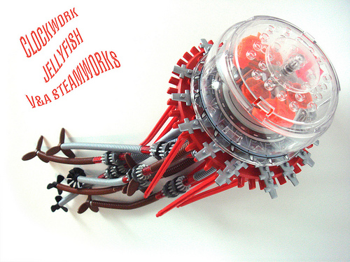 LEGO Steampunk Clockwork Jellyfish