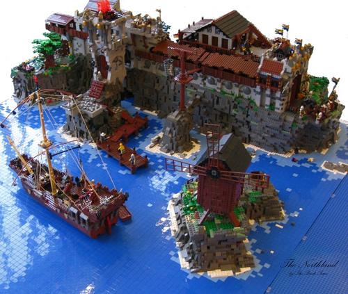 Grimmhavn LEGO town by Mr Brick