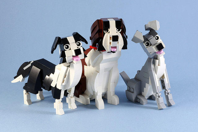 LEGO Terrier St Bernard Collie