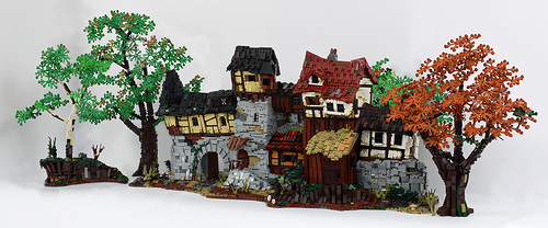 The Front - Fantasy medieval like house front - Lego MOC
