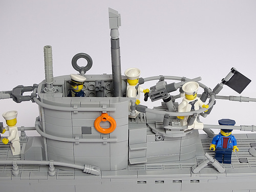 U-Boat type VIIc 1:50 Scale LEGO Model
