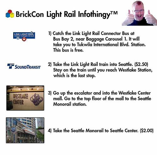 Instructions for getting from Sea-Tac to BrickCon